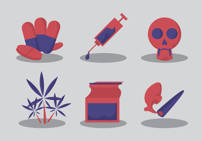 no-drugs-vector-set