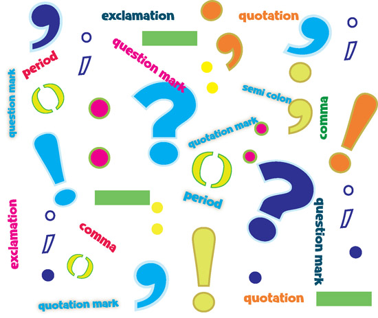 Group of Punctuation Marks